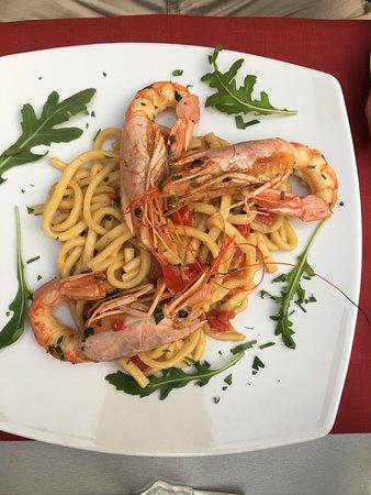 Atrani, Ιταλία: shrimp pasta