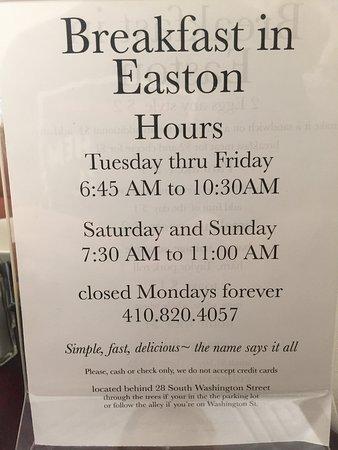 """""""Breakfast In Easton"""""""