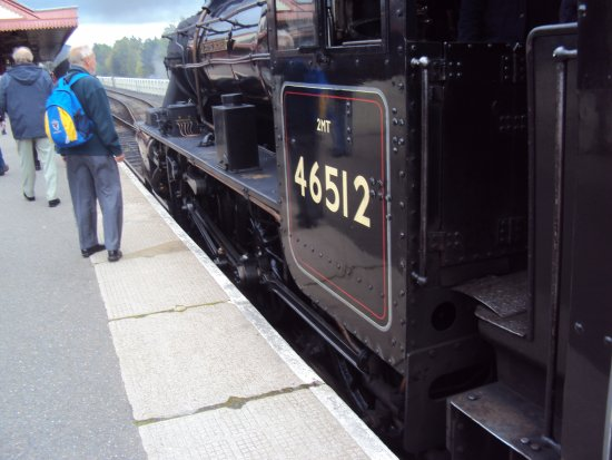 Aviemore, UK: One of Strathspey`s locomotives