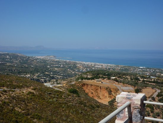 Maroulas, Greece: Daytime view from restaurant