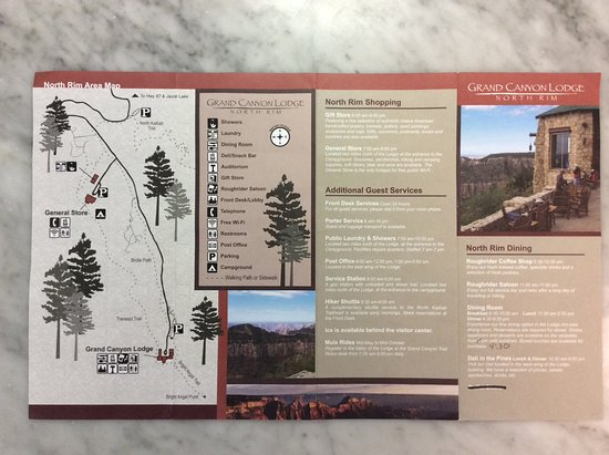 back of brochure shows the entire peninsula of the lodge western