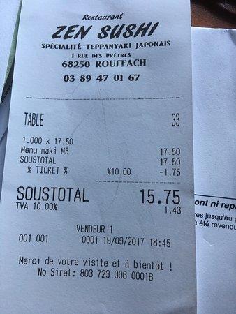 Rouffach, Frankrike: addition raisonable compte tenu de la qualité et de la quantité.