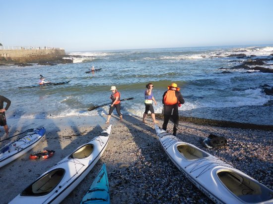 Kaskazi Kayaks & Adventures: Launching into the surf.
