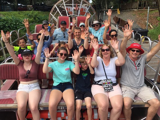 Lake Panasoffkee, FL: All the way from England having fun at Tom & Jerry's #airboats