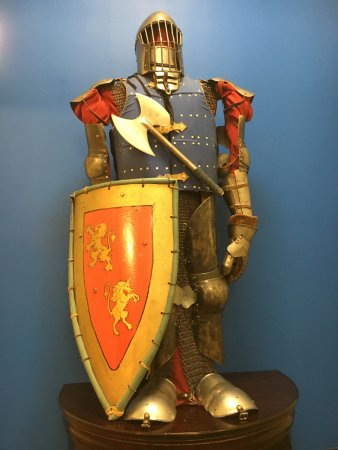 Castle Rock, CO: Full armor knight in our lobby.