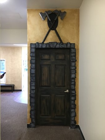 Castle Rock, CO: Entry door to The Quest escape game.