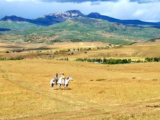 Clark, CO: Riding the property, at The Home Ranch