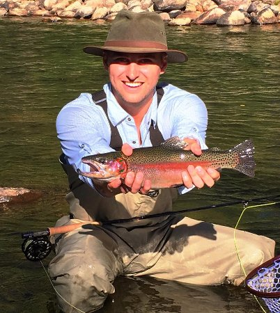 Clark, Kolorado: Fishing the Elk River, at The Home Ranch