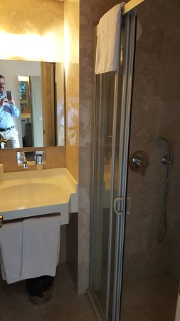 Riva Hotel: Really small bathroom. double room but one person just can get in