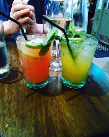 Dungarvan, Ireland: Strawberry and Mango Nojito (Non-alcoholic Cocktails)