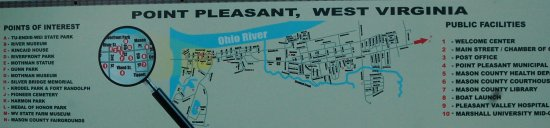 Point Pleasant, WV: Area map