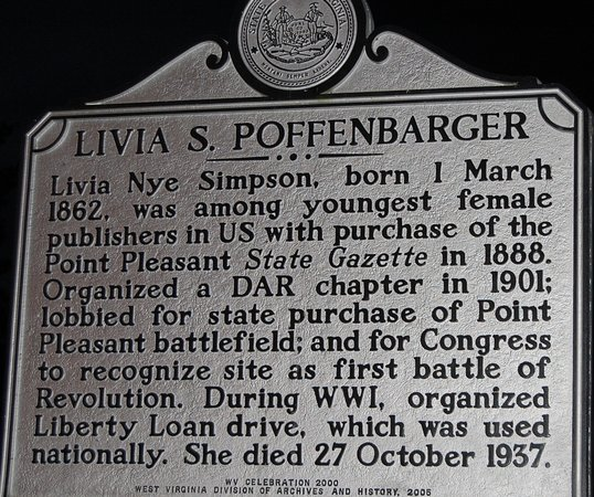 Point Pleasant, WV: Livia S. Poffenbarger