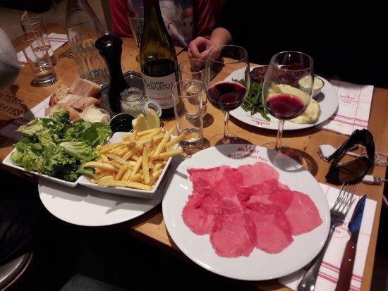Le Bistrot du Louchebem : Assiete de Carpaccio très (trop) fin et peu garnie