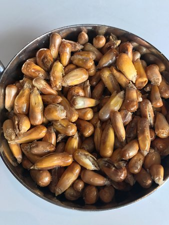 CVI.CHE 105: Entradinha peruana ... milho pipoca torrado!!! Delicioso, viciante