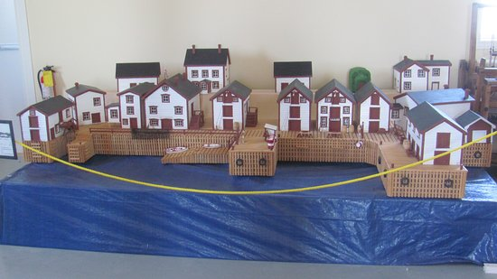 Twillingate, Kanada: G J Carter Fishing Premises in miniature made by Dave Stuckless