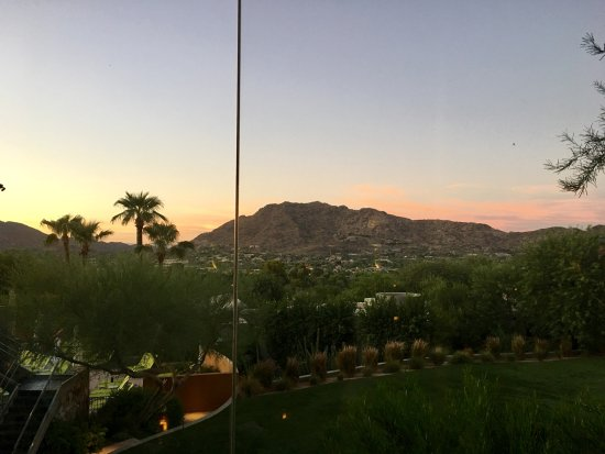 Paradise Valley, AZ: sunset view from the bar