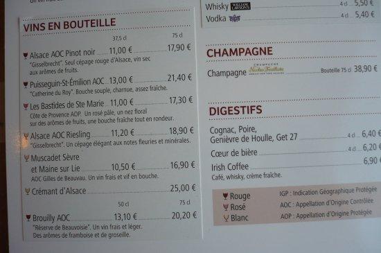 léon de bruxelles carte carte des vins   Picture of Leon De Bruxelles, Colmar   Tripadvisor
