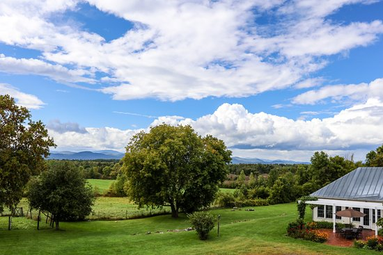 Addison, VT: Gorgeous views of flower gardens, lawns, meadows and Adirondack Mountains.