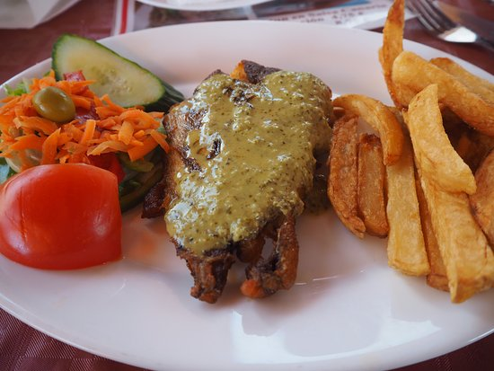 Santiago del Teide, Espanha: A fish fillet (it's not as burned as at first appears! Honest! :) )