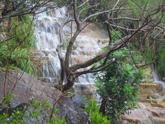 Cape Town, South Africa: steps transfered into creek
