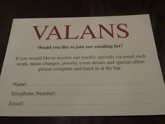 Llandybie, UK: Valans