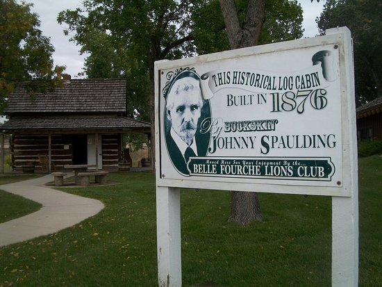 Center of the Nation Monument: Spaulding Cabin - One of the only 2-story cabins of its time