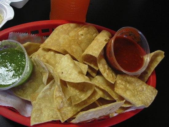 Columbia Heights, MN: Chips with salsas