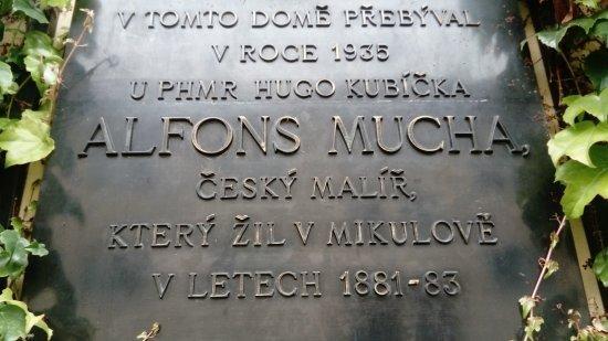 Mikulov, Repubblica Ceca: Description that famous painter Alfons Mucha lived here