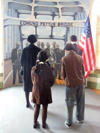 Selma, AL: Reinactment at the Edmund Pettus Bridge