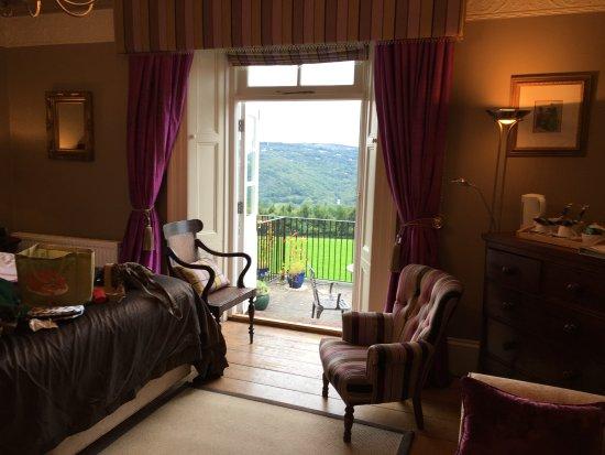 Gulworthy, UK: Room 4 and balcony view over Tamar Valley