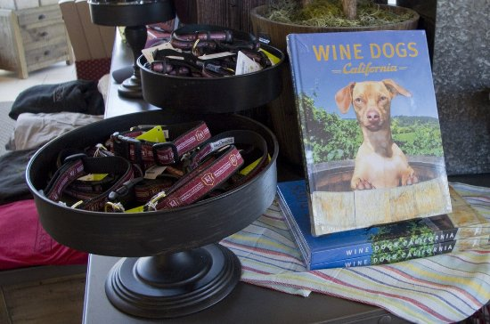 Fulton, CA: They sell their own brand of dog collars and books about wine and dogs.
