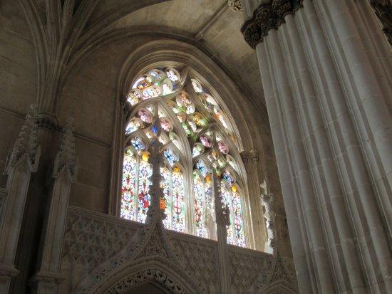 Batalha, Portugal: vitrais maravilhosos