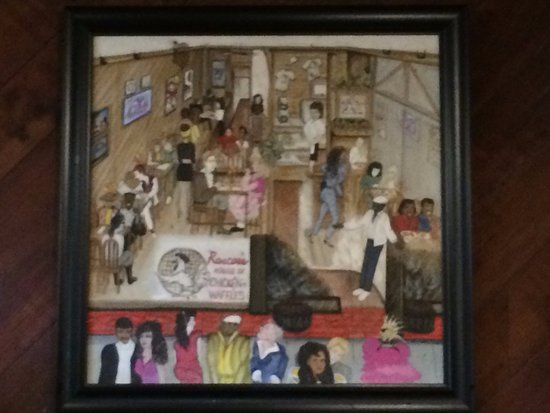 Roscoe's House of Chicken & Waffles: Painting on the wall
