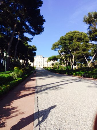 Hotel du Cap Eden-Roc: Back of hotel.. walking down to the Eden Roc and pool