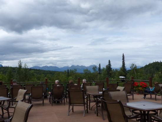 Trapper Creek, AK: Back deck of the main building at Mt. McKinley Princess