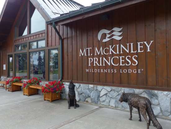 Trapper Creek, Аляска: Front of the main building at Mt. McKinley Princess