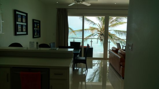 Bodden Town, Grand Cayman: The view as soon as you walk in ...from the kitchen