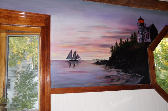 Seal Harbor, ME: Mural of Bass Harbor Light