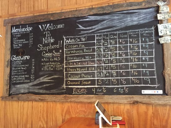 Bloomfield, Нью-Йорк: Noble Shepherd Craft Brewery