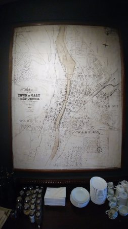 Cambridge, Kanada: 1867 Map of Galt