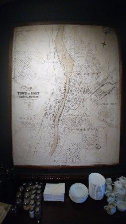 Cambridge, Canadá: 1867 Map of Galt