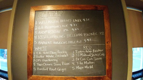 Cambridge, Kanada: The Drinks Board