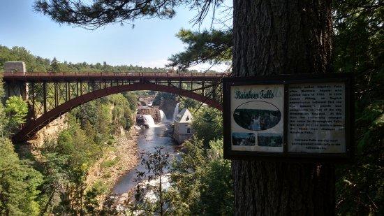 Ausable Chasm : Rainbow Falls Route 9 bridge