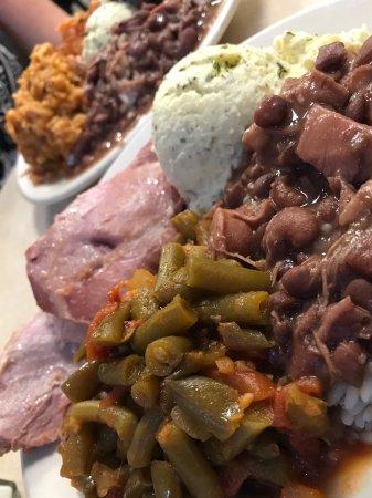 "Mother's Restaurant: Combo plates- ""worlds best ham!"" :-)"
