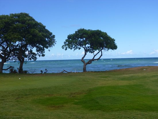 Waiehu Golf Course: The Seventh Tee with the Pacific as a back-drop
