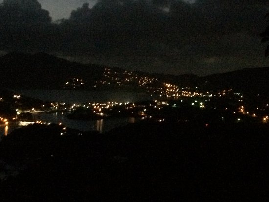 English Harbour, Antigua: the view at night
