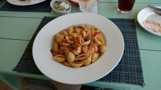 Bodden Town, Grand Cayman: Pirate pasta with shrimp