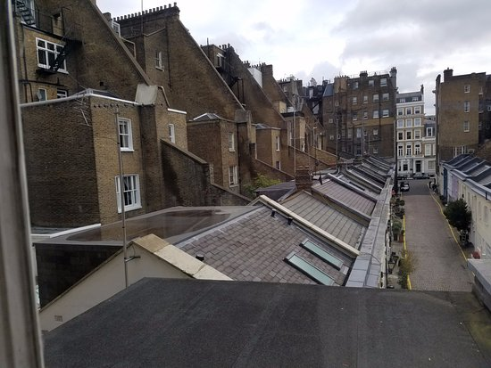 Rydges Kensington London: View from the back stairs window of this quaint London Neighborhood.