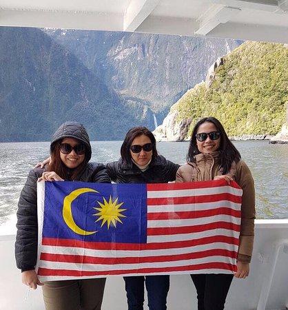 Milford Sound, Nuova Zelanda: My friends & i