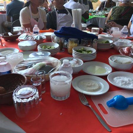 Salsa Mazatlán: our table prep area